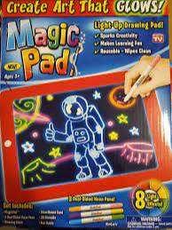 Tableta De Dibujo Ontel Bonus Magic Pad Deluxe Ilumina Led