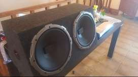 Potencia rockfor 1600w sub woofers distinct audio doble bobina