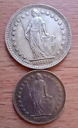 Monedas suizas.
