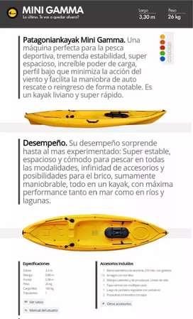 Kayak Patagonian Mini Gamma. La máquina de pesca