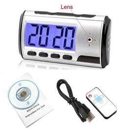 Camara Reloj de mesa Espia Micro Sd Deteccion Movimiento Control