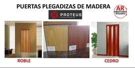 PUERTAS PLEGADIZAS DE MADERA MACIZA, ESTANDAR ENVIOS