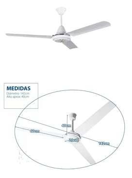 Ventilador D Techo 3 Aspas 5 Velocidades Marca Imperio