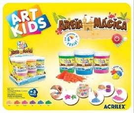 Art Kids Arena Magica + Molde Acrilex X 3 Potes De 200gr