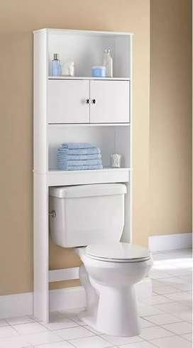 Remato estante de baño blanco