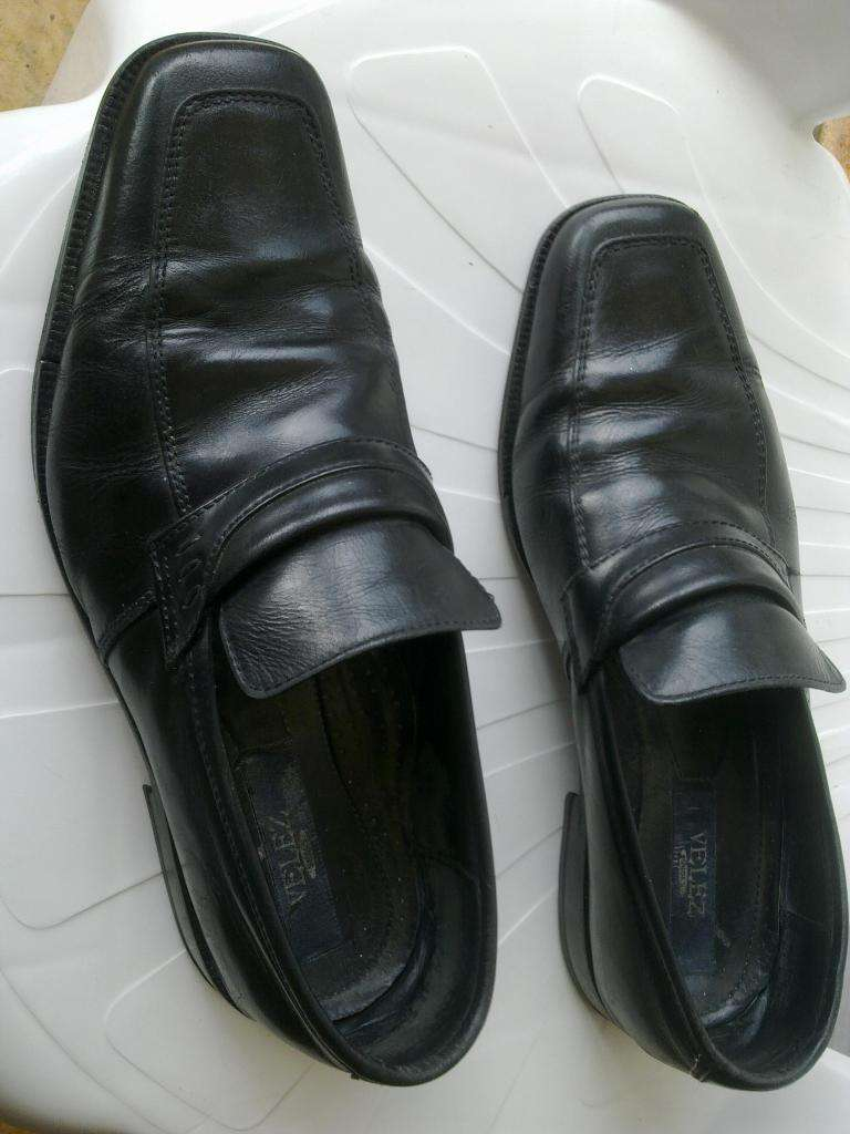 ¡Zapatos Zapatillas en cuero MARCA Velez Talla 42!