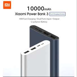 Power bank 3 xiaomi   18w fast charge