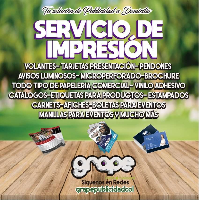 SERVICIO IMPRESION VOLANTES, TARJETAS IMANTADAS,ETIQUETAS PRODUCTOS, TARJETAS PRESENTACIÓN, PENDONES,GRAN ESCALA 0