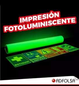 Venta de Vinil Adhesivo Fotoluminiscente Economico