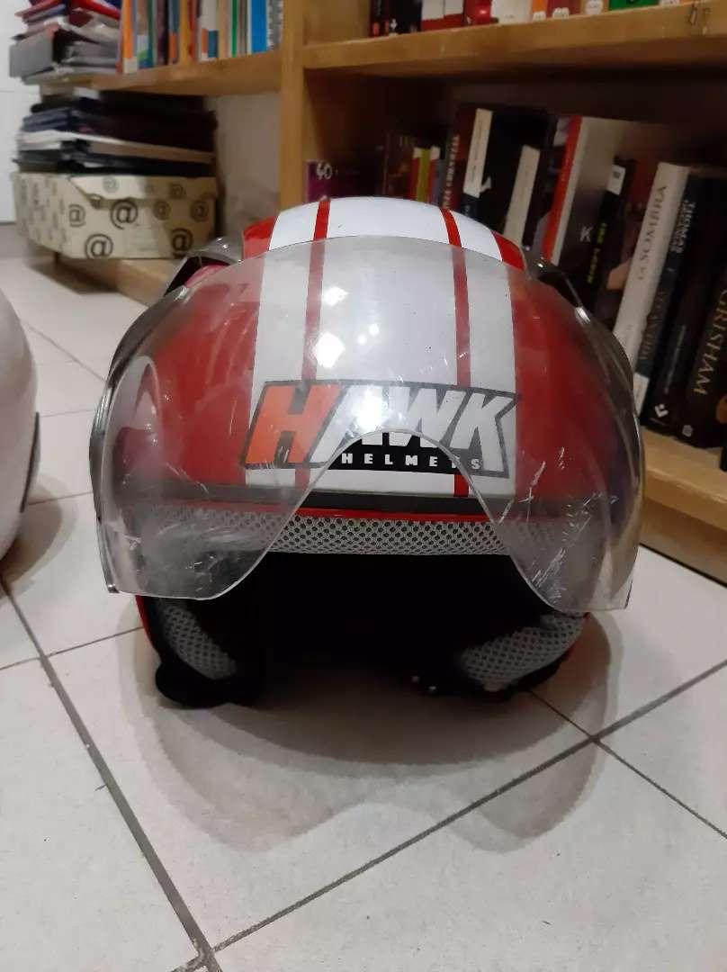Casco abierto Hawk RS9 visador color rojo 0