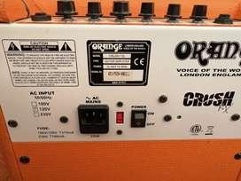 Vendo amplificador orange crush de 12w