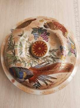 Porcelana china decorada con tapa