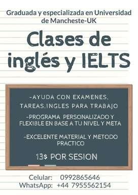 CLASES DE IELTS E INGLÉS