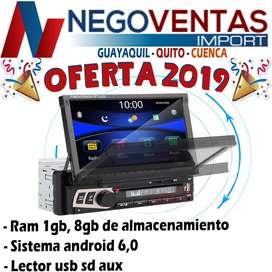 RADIO RETRACTI  ANDROID USB SD OPCION PARA CAMARA DE RETRO DE OFERTA
