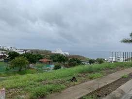 VENTA  terreno para proyectos en Ciudad del Mar Urbanización frente al mar en Manta