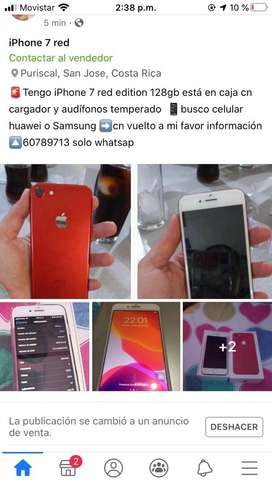Iphone 7 128gb red edition caja y accesorios