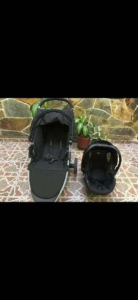 Coche + silla porta bebé britax b-agile