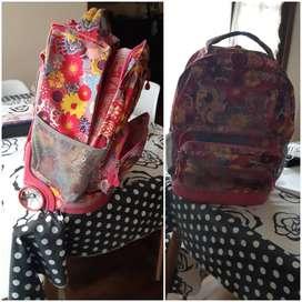 mochila con carrito de niña
