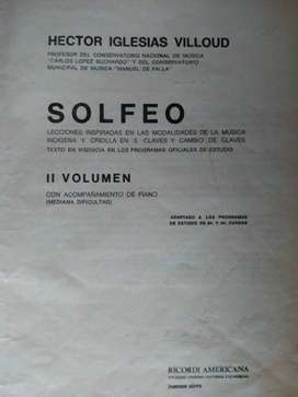 SOLFEO   II VOLÚMEN  HECTOR IGLESIAS VILLOUD