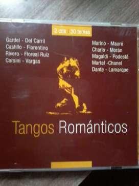Dos cds de tangos románticos Interpretes varios