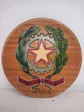 Plato decorativo de madera para colgar