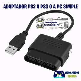 Adaptador Joystick Ps2 a Ps3 o PC USB Simple