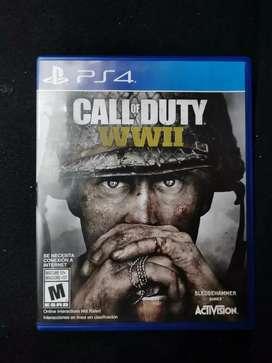 Vendo juego para play 4 call of duty ww2  $ 55.000