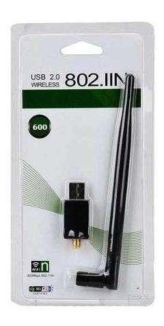 wifi usb 2.0.  con antena de 18 centimetros. 600mbs
