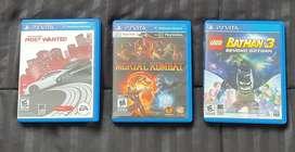 Tres juegos originales para PS Vita