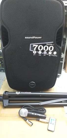 "COMBO LA MAS POTENTE CABINA DE AUDIO DE 15"" 7000WATTS USB BLUETOOTH SD FM"