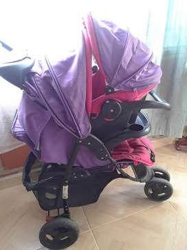 Vendo coche y silla para niña