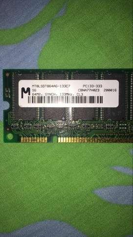 64MB  Memoria 64MB Ddr Ram Pc-133 333