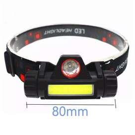 Linterna cabeza magnetico bateria litio 18650 recargable