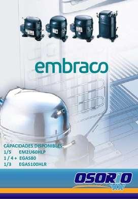 Compresores Embraco diferentes capacidades