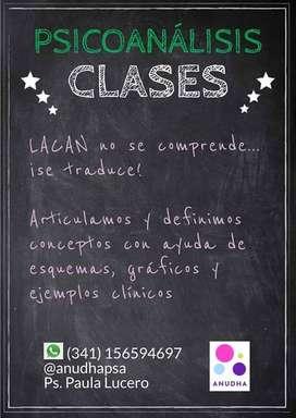Clases particulares, cursos de especialización en psicoanálisis lacaniano