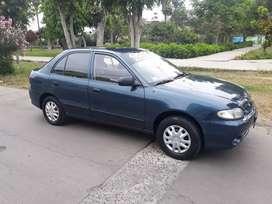 Hyundai accent 98 mecanico, gasolina, full, pintura original