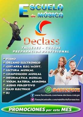 CLASES DE PIANO,ORGANO ELECTRICO ,GUITARRA ELECTRICA,CANTO,BATERIA Y COMPOSICION