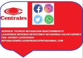CENTRALES LAVADORAS/NEVERAS/NEVECONES/SECADORAS/CALENTADORES PBX : 3949861