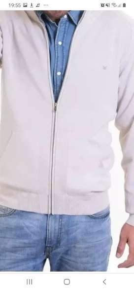 Campera de lana hombre nueva color beige talle XL