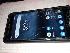 Vendo celular Nokia 3 pantalla rajado pero funcional