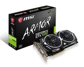 VIDEO MSI GTX 1080 OC 8GB ARMOR 256BITS 2500!!!