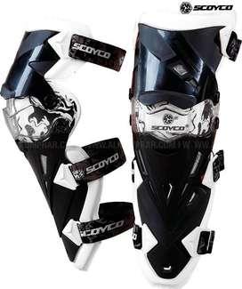 Rodilleras Scoyco K12 NUEVAS para moto, protección total