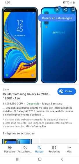 Se vende celular samsung a7 color azul