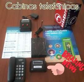 Cabinas telefónicas modernas