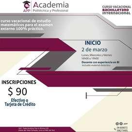 Curso Bachillerato Internacional