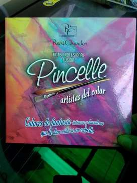 Vendo tintes para cabello colores fantasía marca Pincelle