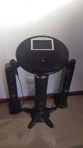 Karaoke doble micrófono singing Machine como nuevo