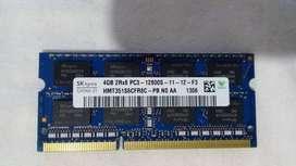RAM 4 gb  DDR3 para Portatil