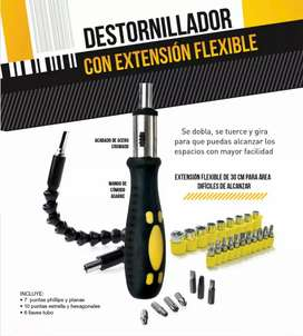 Destornillador con extebsión flexible