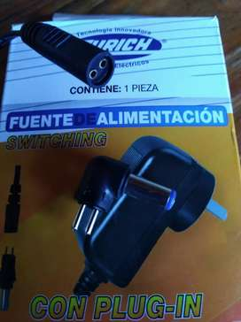 Fuente Switching 6v 1a 12w Con Plug Intercambiable